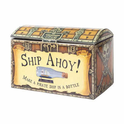 House of Marbles Ship Ahoy! Pirate Ship in a Bottle Kit
