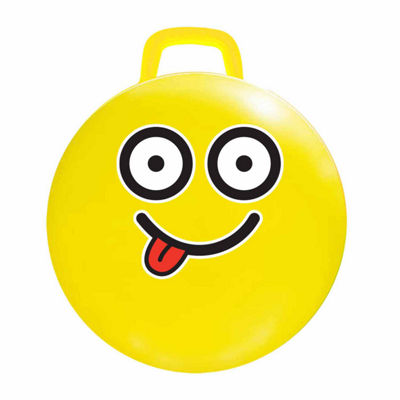 "MegaFun USA 18"" Yellow Emoji Hop Hop Jumping Ball- #Silly"""