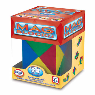 Popular Playthings Mag Blocks 24 Piece Set