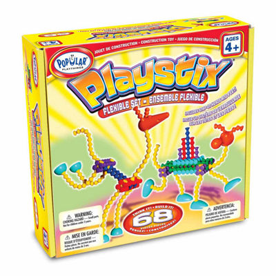 Popular Playthings Playstix Flexible Set: 68 Pcs