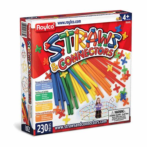 Roylco Straws & Connectors - 230 Piece Set