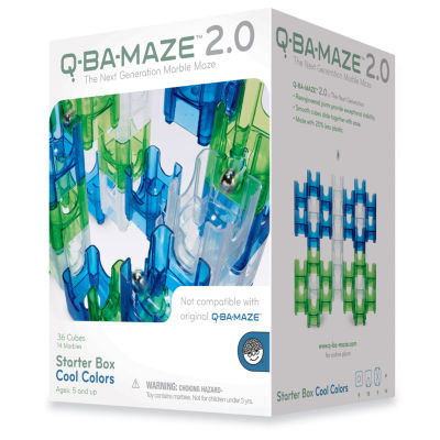 MindWare Q-BA-MAZE 2.0 Starter Box - Cool Colors:50 Pcs
