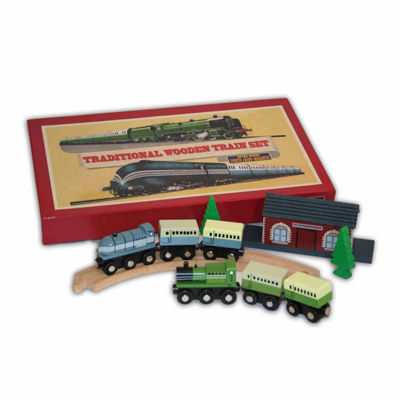 Perisphere & Trylon Traditional Wooden Train Set