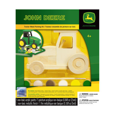 Masterpieces Puzzles John Deere Wood Painting Kit- Tractor