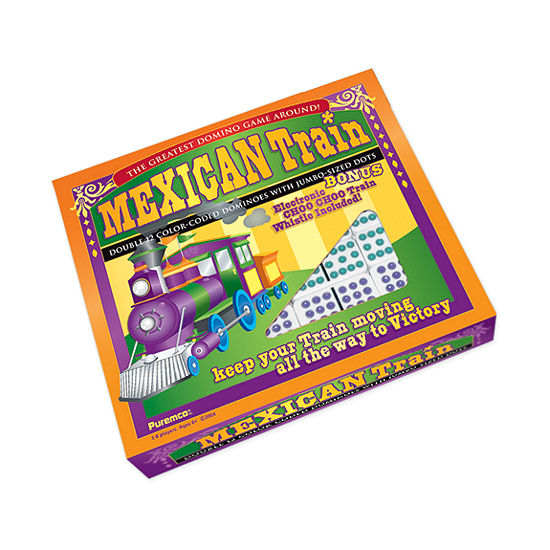 Puremco Mexican Train Double 12 Color Dot Dominoes