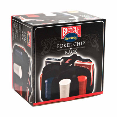 US Playing Card Company Bicycle Revolving Poker Chip Rack with Chips and Cards