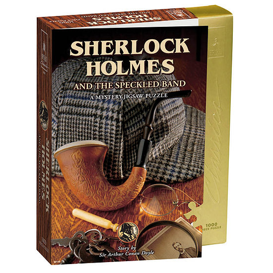 University Games Sherlock Holmes & The Speckled Band Mystery Jigsaw Puzzle: 1000 Pcs