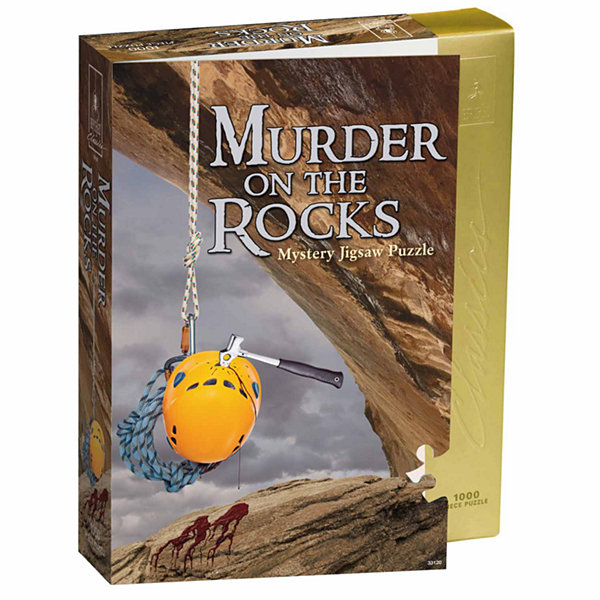 BePuzzled Murder on the Rocks Classic Murder Mystery Jigsaw Puzzle: 1000 Pcs