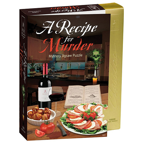 BePuzzled Recipe for Murder - Murder Mystery Jigsaw Puzzle: 1000 Pcs