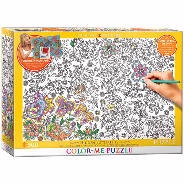 Eurographics Inc Color-Me Puzzle - Hidden Butterflies: 300 Pcs