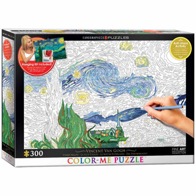Eurographics Inc Color-Me Puzzle - Vincent Van Gogh's Starry Night: 300 Pcs