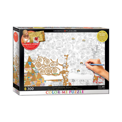 Eurographics Inc Color-Me Puzzle - Gustav Klimt'sTree Of Life: 300 Pcs