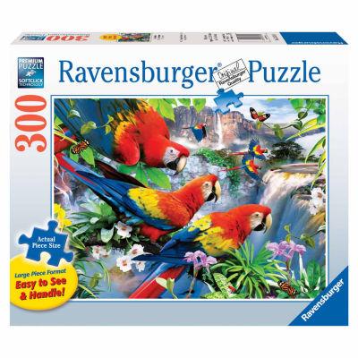 Ravensburger Large Piece - Tropical Birds: 300 Pcs