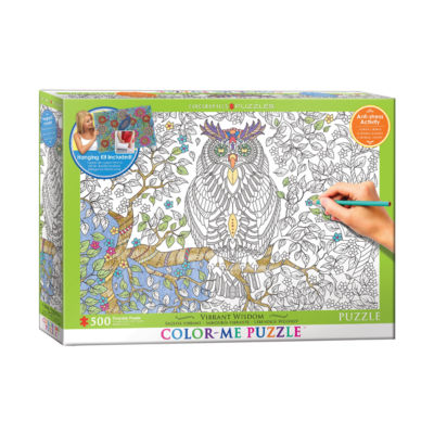Eurographics Inc Color-Me Puzzle - Vibrant Wisdom:500 Pcs