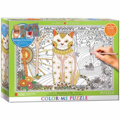 Eurographics Inc Color-Me Puzzle - Magical Cat: 500 Pcs