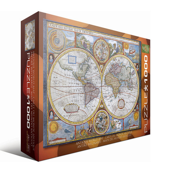 Eurographics Inc Antique World Map: 1000 Pcs