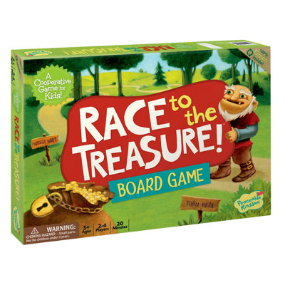 Peaceable Kingdom Race to the Treasure CooperativeBoard Game