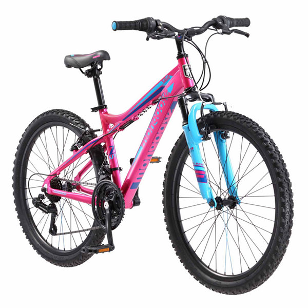 "Mongoose Silva 24"" Girls Front Suspension MountainBike"