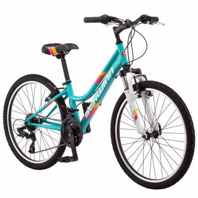 "Schwinn HighTimber 24"" Girls Front Suspension Mountain Bike"