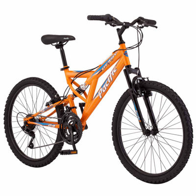 "Pacific Derby 24"" Boys Full Suspension Mountain Bike"