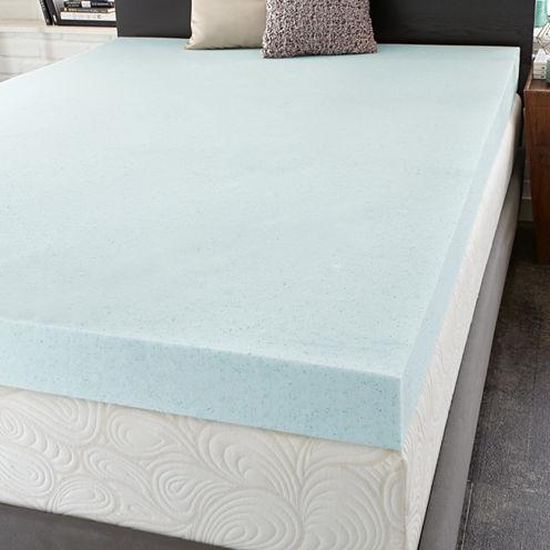 """PuraSleep 4"""" OptiPlush Cool Comfort Memory Foam Mattress Topper"""