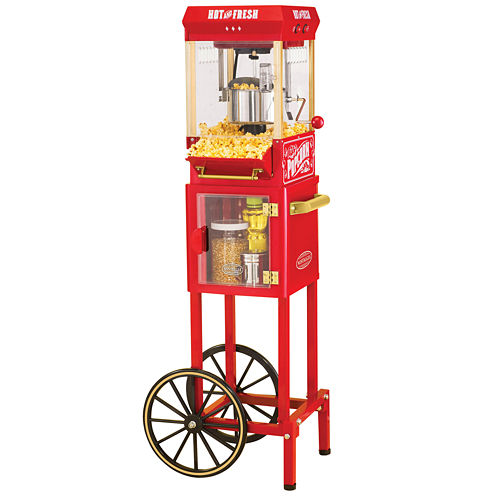Nostalgia KPM200CART 45-Inch Tall Vintage Collection 2.5-Ounce Popcorn Cart