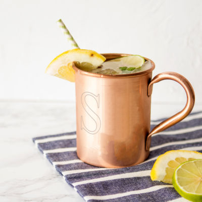 Cathy's Concepts Monogram Moscow Mule Personalizable Copper Mug