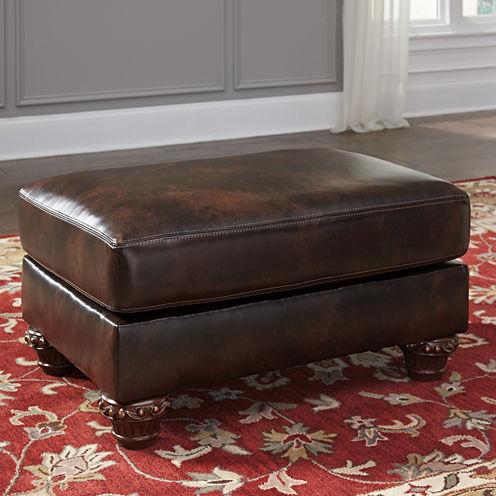 Signature Design by Ashley® Vanceton Faux Leather Ottoman