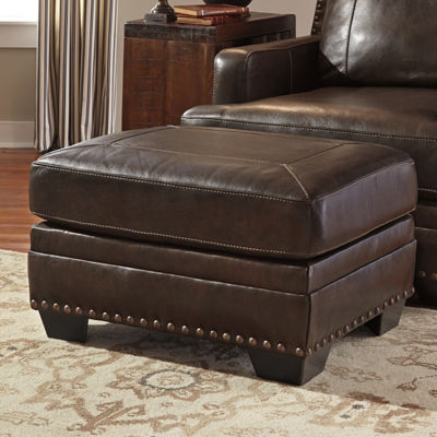 Signature Design by Ashley Faux Leather Ottoman
