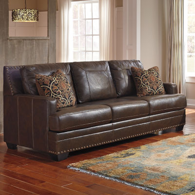 Superb Signature Design By Ashley Corvan Faux Leather Sofa Jcpenney