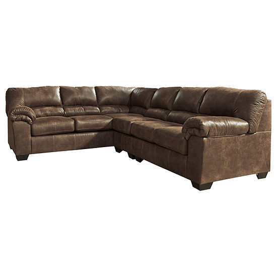Remarkable Signature Design By Ashley Blake 3 Pc Left Arm Facing Sectional Uwap Interior Chair Design Uwaporg