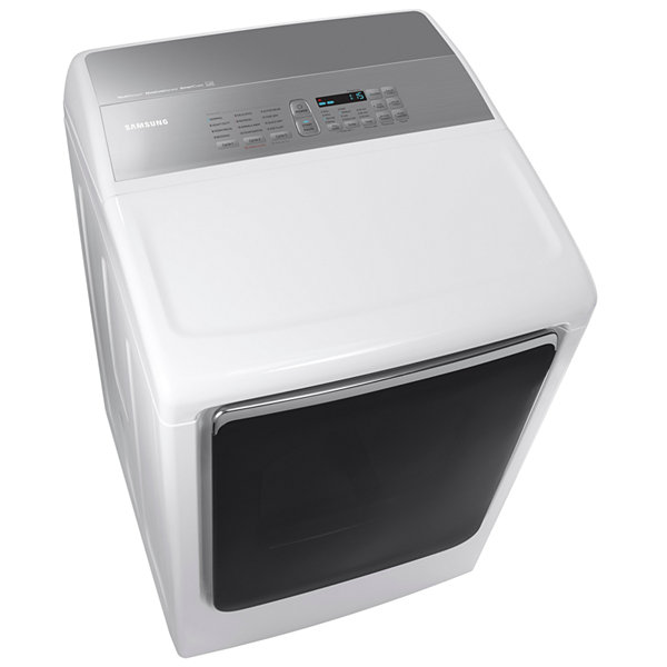 Samsung 7.4-cu ft Electric Dryer with Integrated Controls and Steam Cycle