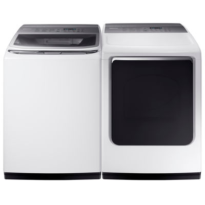 Samsung ENERGY STAR® 7.4 cu. ft. Smart Wi-Fi Enabled Capacity Gas Dryer with Integrated Touch Controls