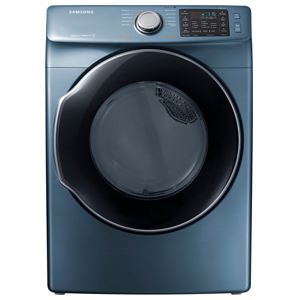 Samsung 7.5-cu ft Stackable Electric Dryer with Steam Cycle