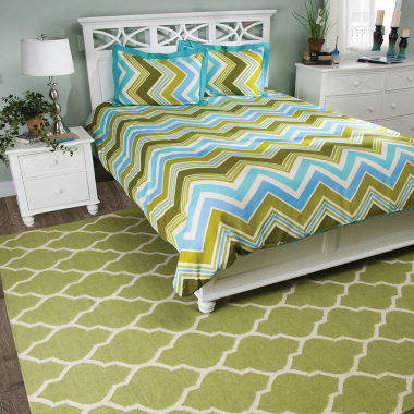 Rizzy Home Tommy  Chevron  3 Piece Comforter Set