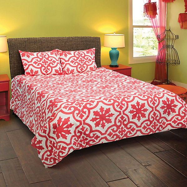 Rizzy Home Angelo Faded Floral 3 Piece Comforter Set
