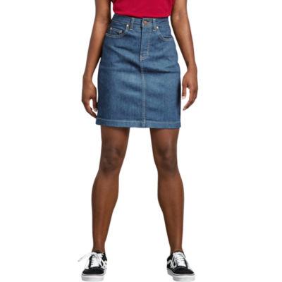 Dickies Misses Perfect Shape Denim Skirt