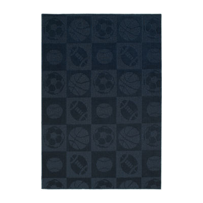 Garland Rug Sports Balls Rectangular Area Rug