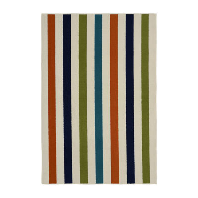 Garland Rug Summer Stripe Rectangular Area Rug