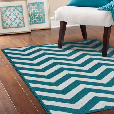 Garland Rug Large Chevron Rectangular Area Rug