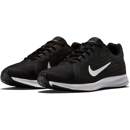 Nike Downshifter 8 Wide Boys Running Shoes Wide Lace-up - Big Kids