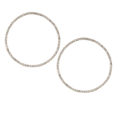 Nicole By Nicole Miller 44mm Hoop Earrings