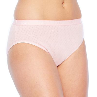Underscore Pointelle Cotton Knit High Cut Panty