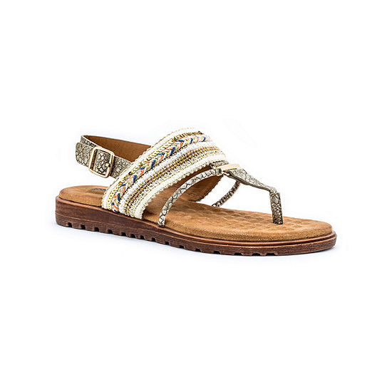 GC Shoes Womens Letty Adjustable Strap Flat Sandals