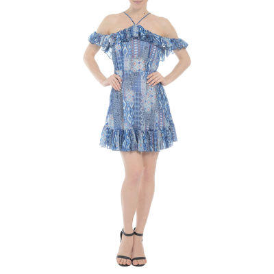Romeo and Juliet Couture Off the Shoulder Dress with Ruffle Detail