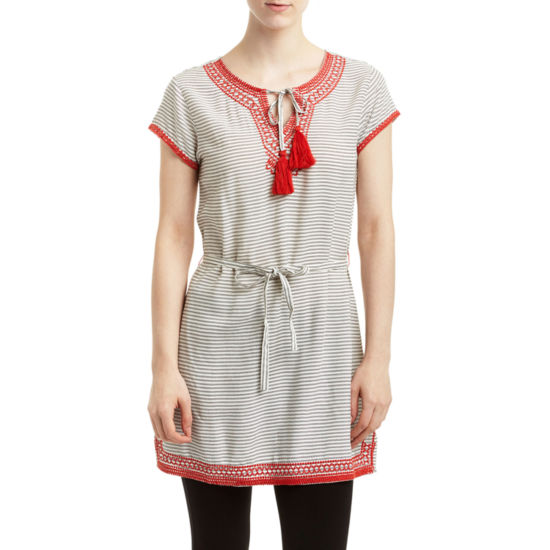 Romeo and Juliet Couture Stripe and Embroidery Dress