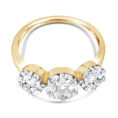 Womens 1 1/6 Ct. T.W. White Diamond 14K Gold Cocktail Ring