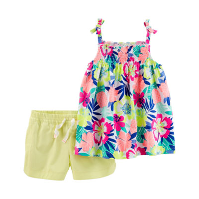 Carter's Floral Tank & Short 2 Piece Set - Preschool Girls