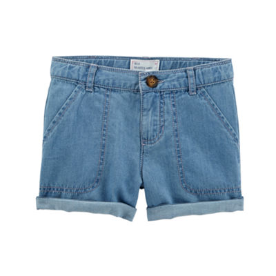 Carter's Roll Cuff Pull-On Chino Short - Preschool Girls