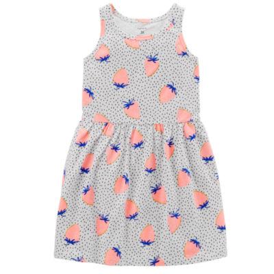 Carter's Sleeveless Dots A-Line Dress - Preschool Girls